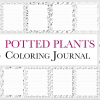 Potted Plants Coloring Journal (Extended)