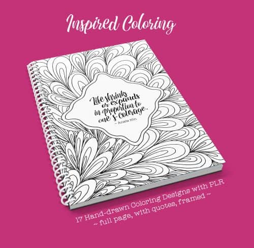 "<p>These are unique, freshly-released hand-drawn coloring designs for print-on-demand (POD) coloring books, journal, workbooks, and inspirational cards. </p> <p>You get the following in 300 DPI, 8.5″X11″ sized JPGs:<br /> ~17 hand-drawn designs in full page<br /> ~17 hand-drawn designs with inspirational quotes<br /> ~17 hand-drawn designs with frame<br /> ~Private label rights (PLR)</p> <p>The PLR license gives you the flexibility to modify, rebrand, and package this product as your own. More details on what you may and may not do are in the sales page.</p> <p>"" width=""46″ height=""24″ /></a></p> <p style="